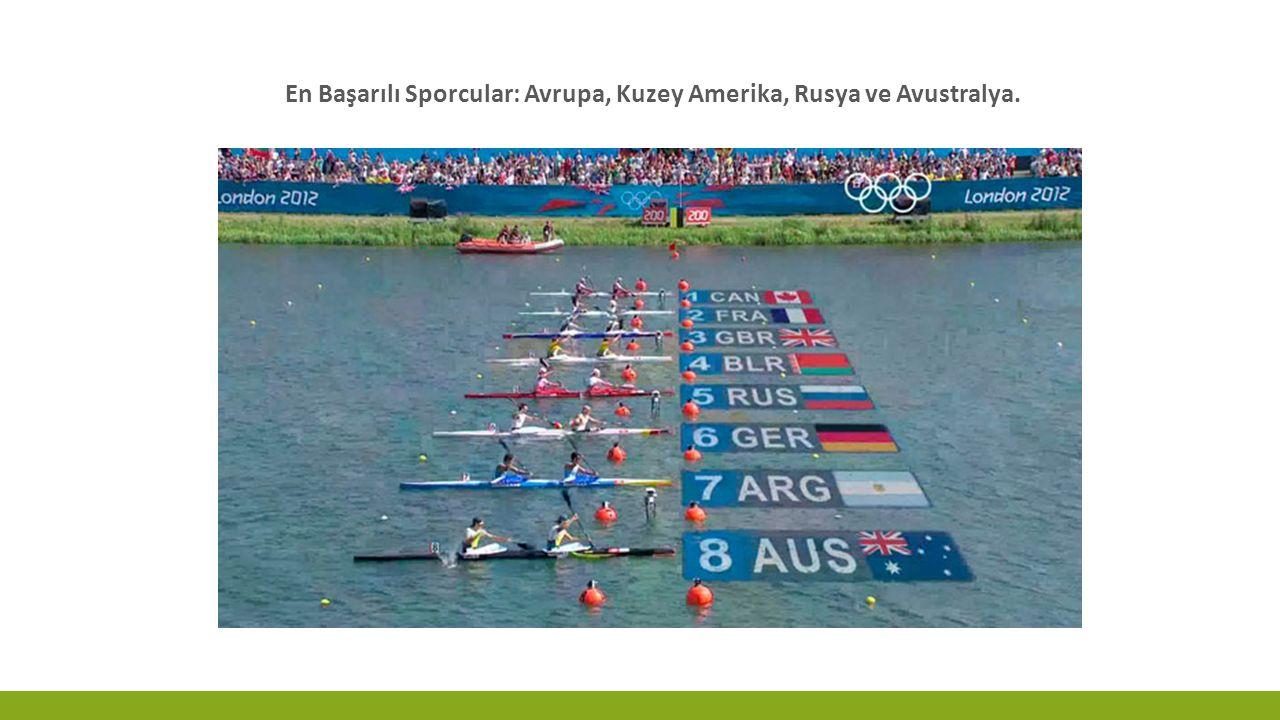 En Başarılı Sporcular: Avrupa, Kuzey Amerika, Rusya ve Avustralya.