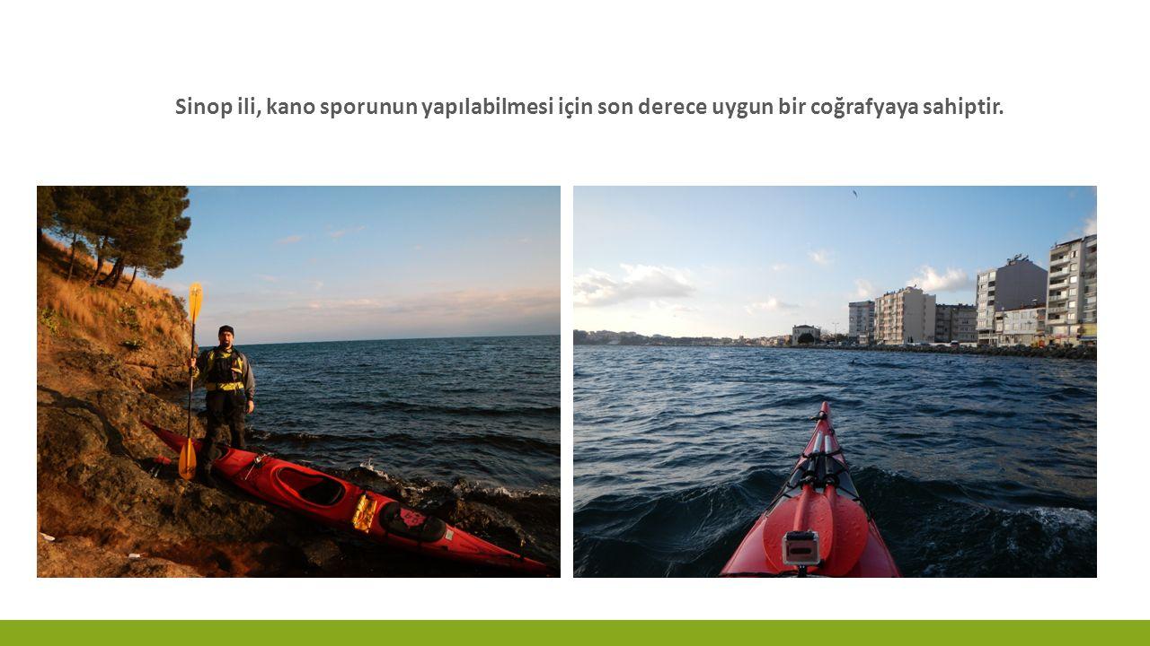 DENIZ KANOSU KAYAK (K1) Yarış Şekli ve Yeri: Liman, mendirek, sakin koy içi gibi fazla dalga almayan denizlerde ya da durgun göl, akarsu ya da kanallarda, tek ve geniş bir kulvarda tek yönlü olarak yapılır.