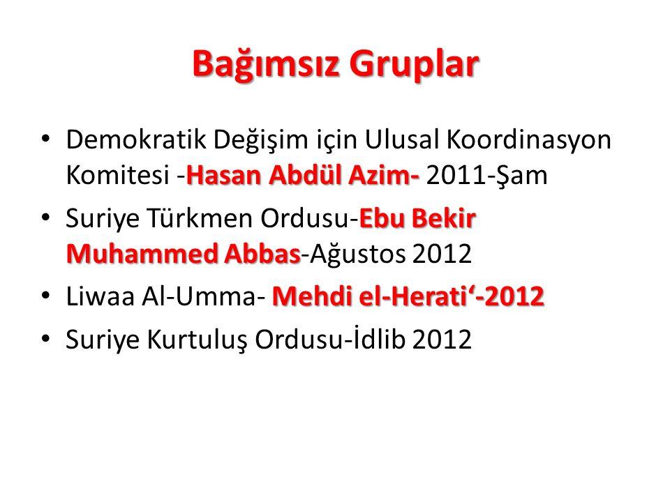Bağımsız Gruplar Hasan Abdül Azim- Demokratik Değişim için Ulusal Koordinasyon Komitesi -Hasan Abdül Azim- 2011-Şam Ebu Bekir Muhammed Abbas Suriye Tü
