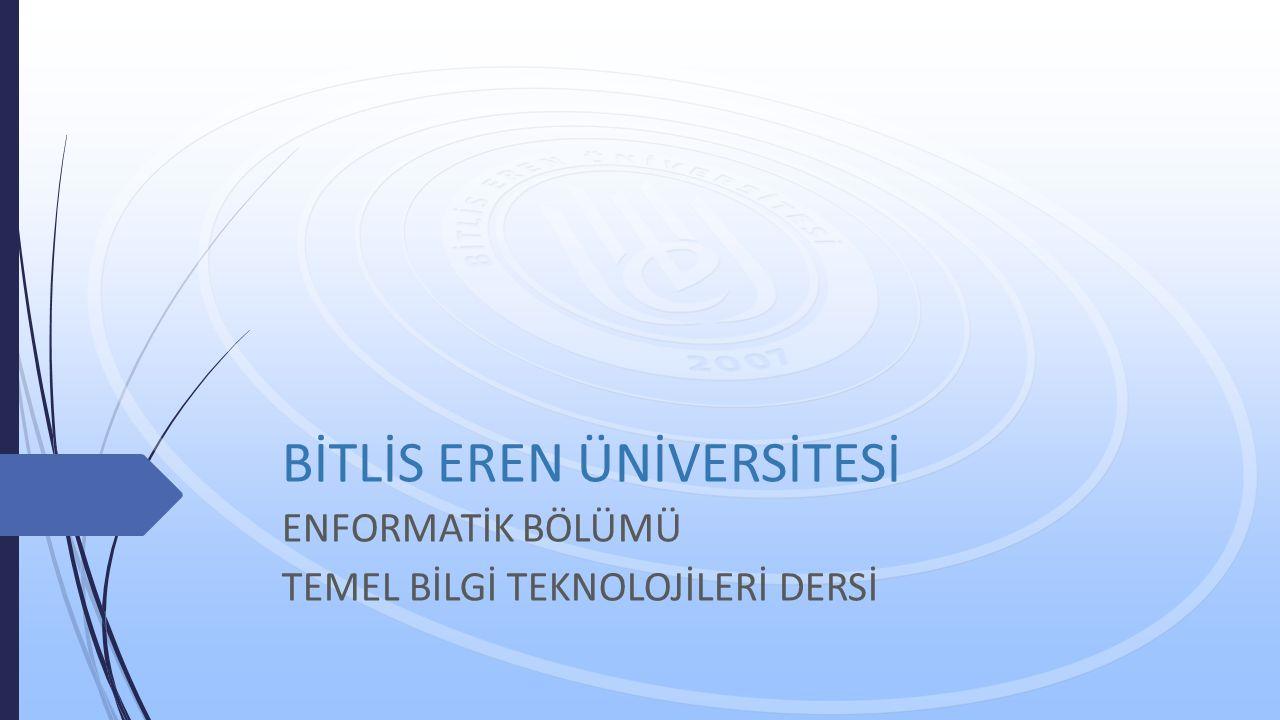KELİME İŞLEMCİ -I- Hafta 6 Öğr. Gör. Aykut DİKER