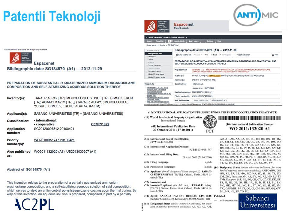 18 Patentli Teknoloji