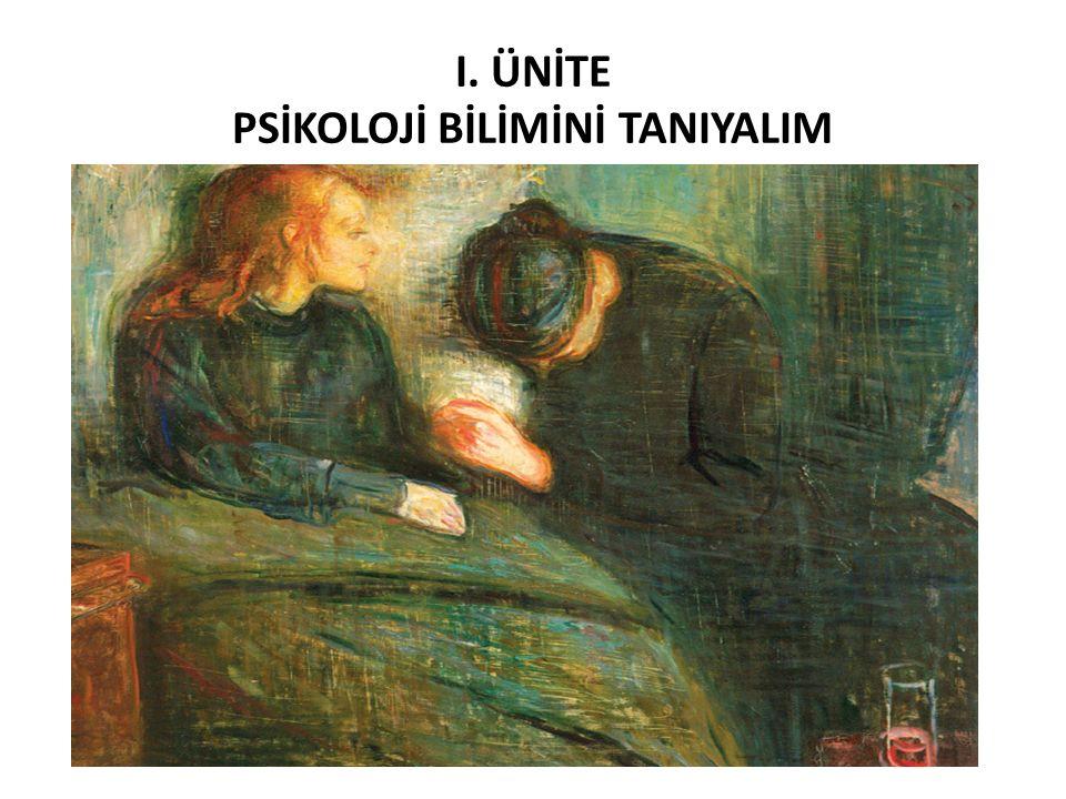 I. ÜNİTE PSİKOLOJİ BİLİMİNİ TANIYALIM