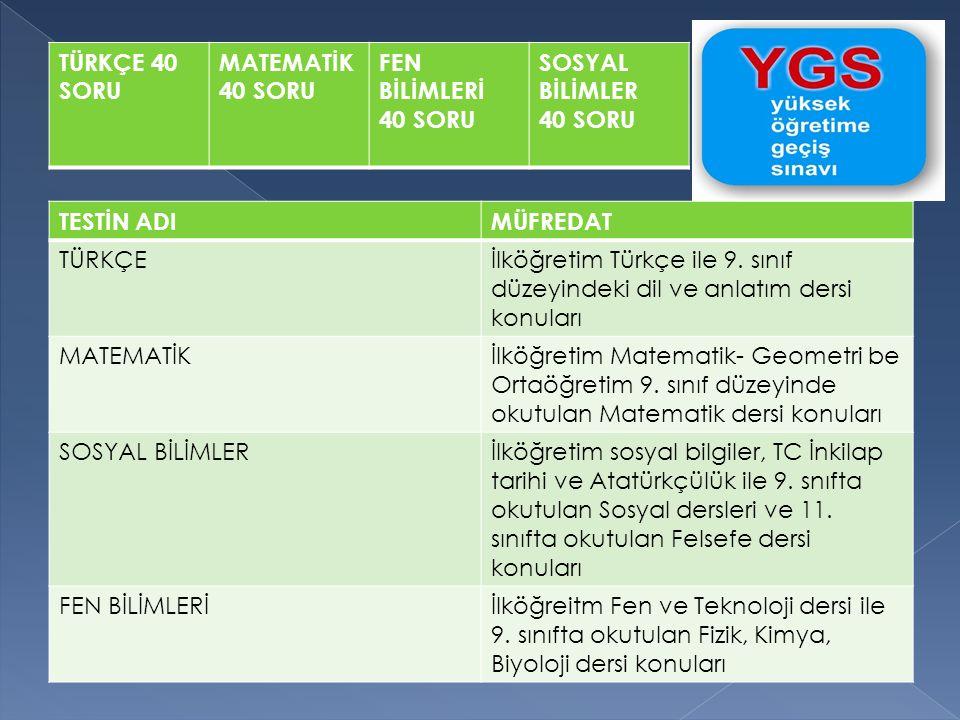 TESTİN ADIMÜFREDAT TÜRKÇEİlköğretim Türkçe ile 9. sınıf düzeyindeki dil ve anlatım dersi konuları MATEMATİKİlköğretim Matematik- Geometri be Ortaöğret
