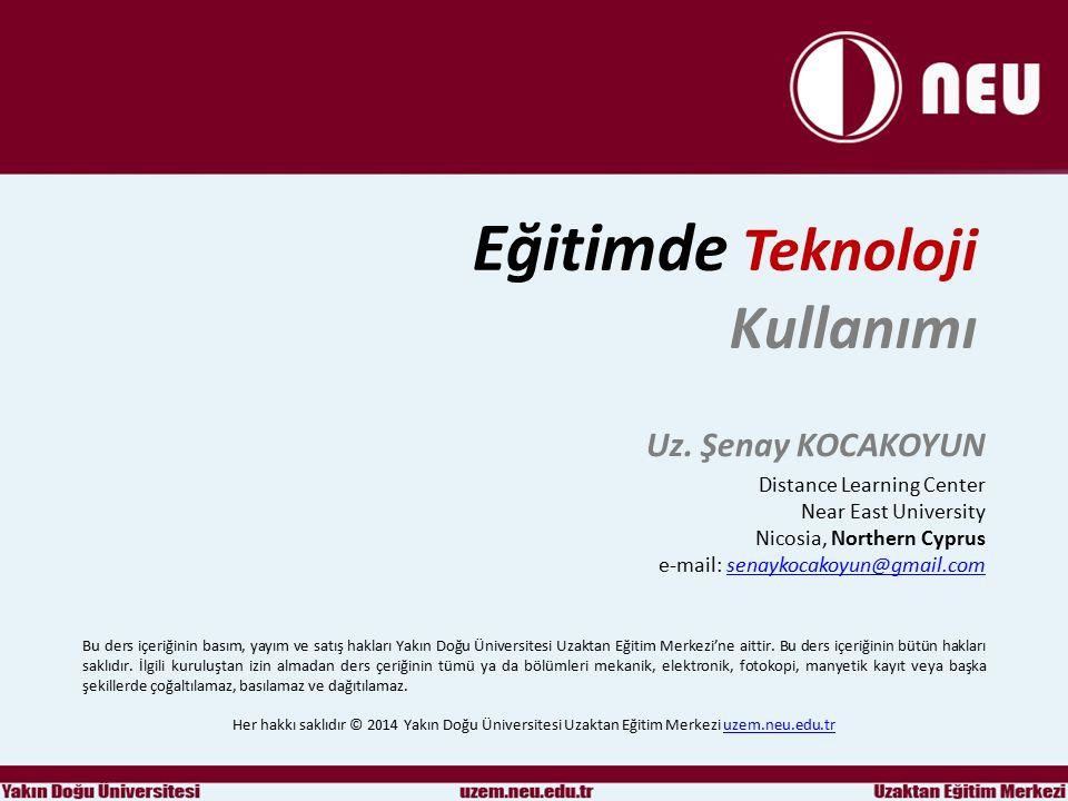 Eğitimde Teknoloji Kullanımı 1.