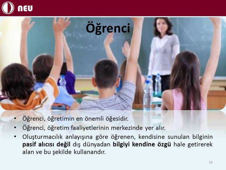 Öğrenci Öğrenci, öğretimin en önemli öğesidir.