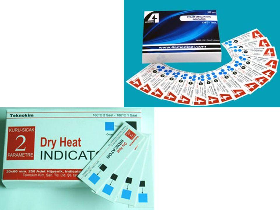 Bohça içi kontrolü paketlerin içine konulan otoklav içindeki fiziksel durumlarla ilgili bilgi edinmeyi sağlayan kimyasal indikatörlerle yapılır.