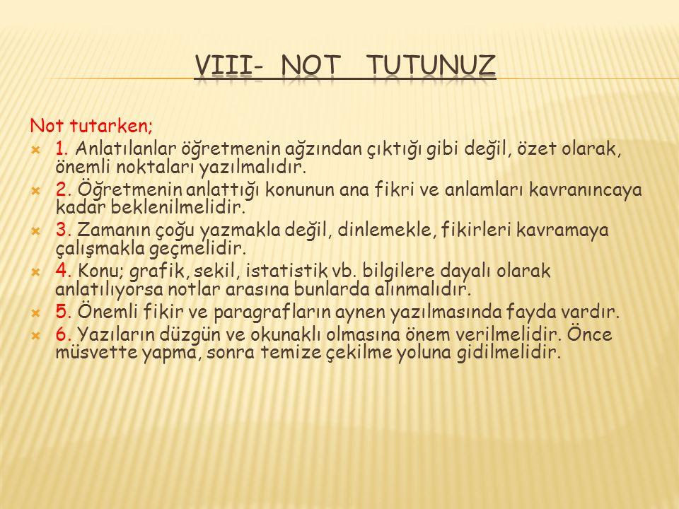 Not tutarken;  1.