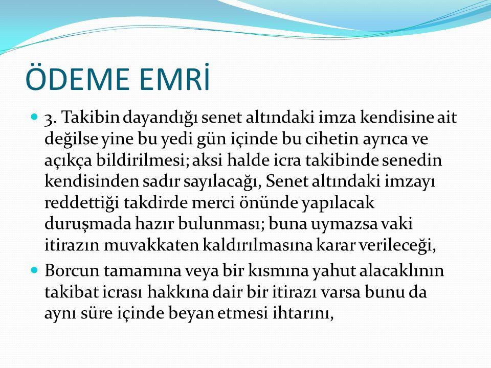 ÖDEME EMRİ 4.
