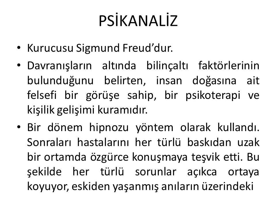 PSİKANALİZ Kurucusu Sigmund Freud'dur.