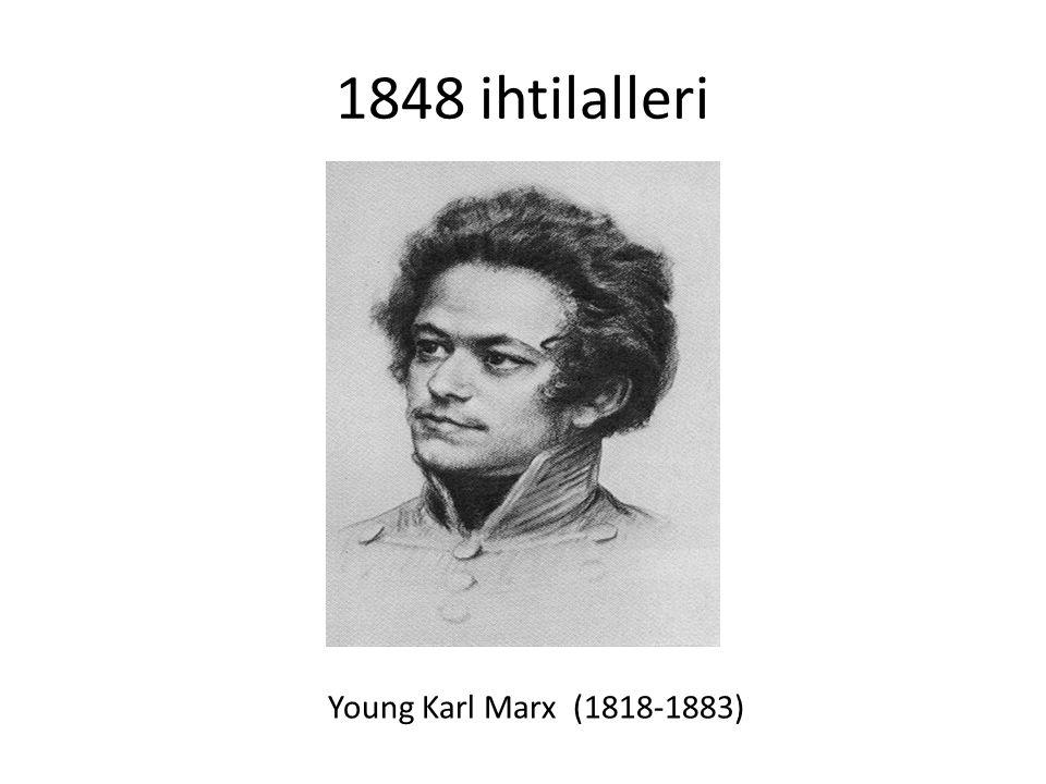 1848 ihtilalleri Fransa'da sosyalist, diğer Avrupa ülkelerinde ağırlıkla milliyetçi ihtilaller.