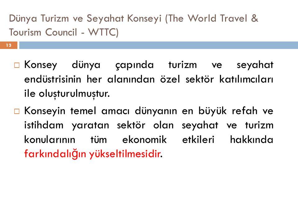  Konsey dünya çapında turizm ve seyahat endüstrisinin her alanından özel sektör katılımcıları ile oluşturulmuştur.  Konseyin temel amacı dünyanın en