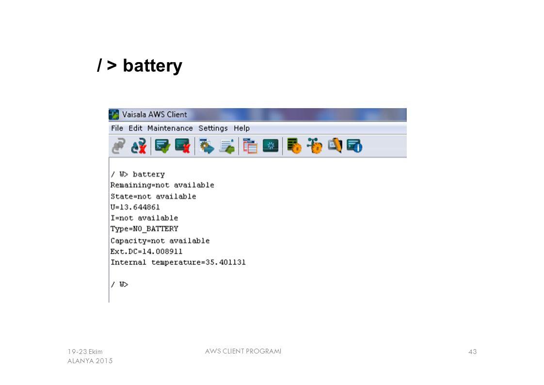 / > battery AWS CLIENT PROGRAMI 4319-23 Ekim ALANYA 2015