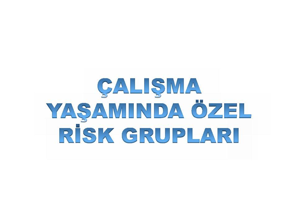 ÇALIŞMA YAŞAMINDA ÖZEL RİSK GRUPLARI Risk gruplarına yönelik sosyal politikaların oluşturulmasında ilk aşama risk yönetim sürecinin ortaya konulmasıdır.