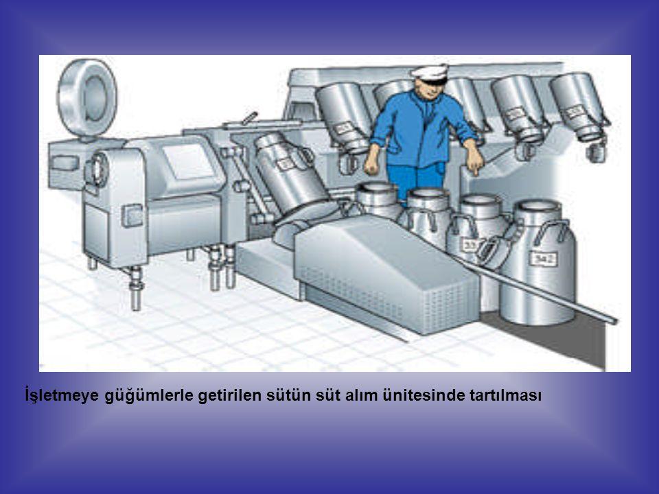 Tankerlerle getirilen sütün kantarla ölçümü Ölçüm tankı yöntemiyle süt miktarının belirlenmesi