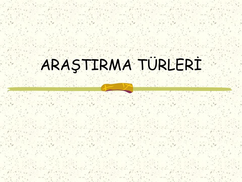 ARAŞTIRMA TÜRLERİ
