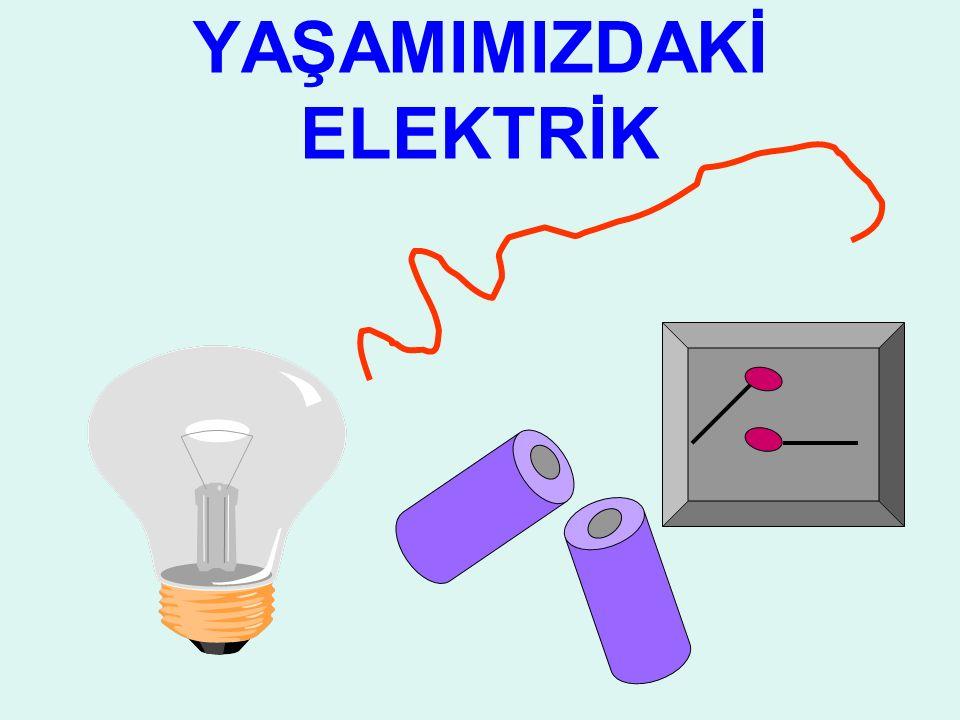 BASİT ELELEKTRİK DEVRELERİ Basit bir elektrik devresi oluşturmak için elimizde pil,bağlantı kablosu(bağlantı kablosu) ve ampul bulunması yeterlidir.