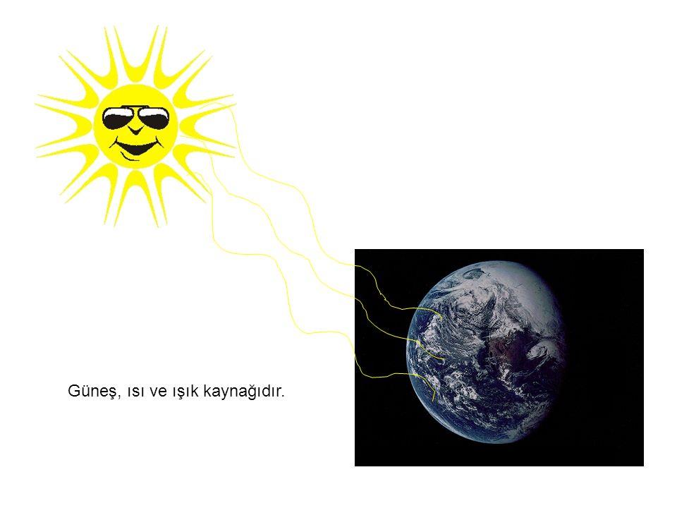 Güneş, ısı ve ışık kaynağıdır.