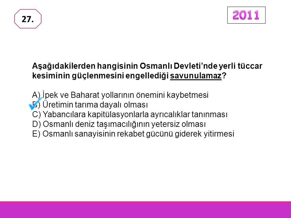 Aşağıdakilerden hangisinin Osmanlı Devleti'nde yerli tüccar kesiminin güçlenmesini engellediği savunulamaz.