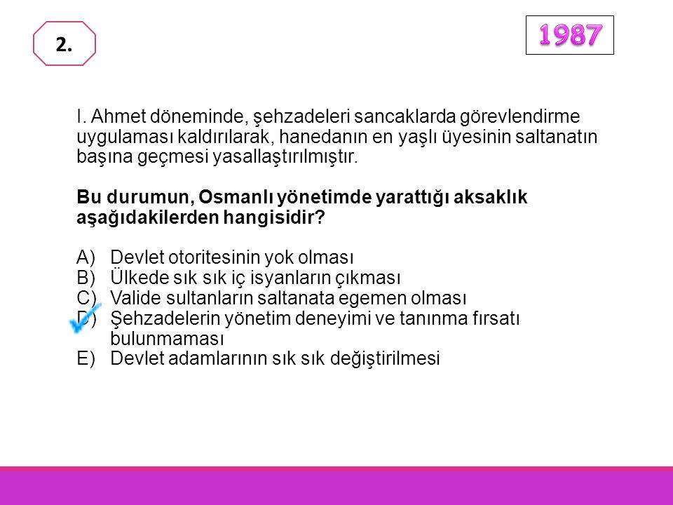 Osmanlılarda toprağı kullanma hakkı, devletin denetimi altında halka verilmişti. Devlet, toprağını iyi kullanmayan ve arka arkaya üç yıl boş bırakanla