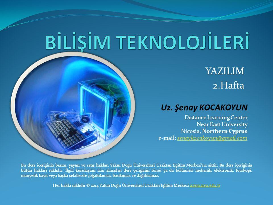Yazılım Yazılım, elektronik aygıtlarınaygıtların belirli bir işi yapmasını sağlayan programların tümüneprogramların verilen isimdir.