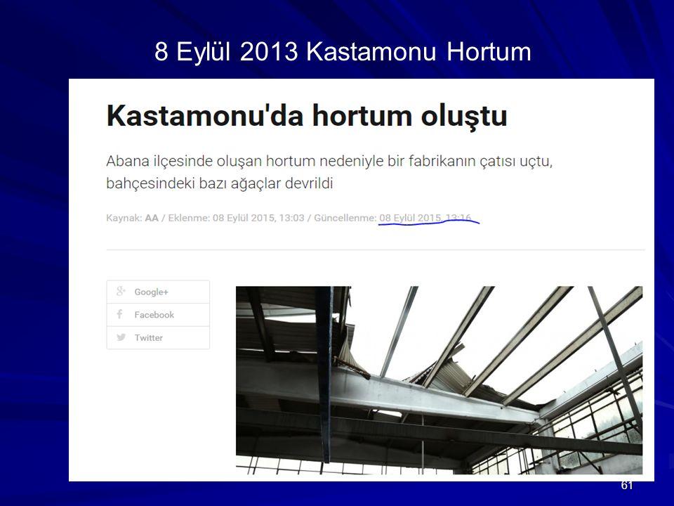 61 8 Eylül 2013 Kastamonu Hortum