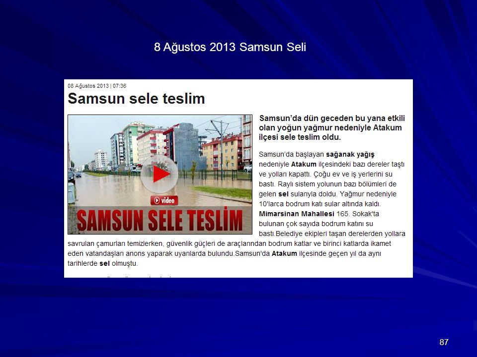 87 8 Ağustos 2013 Samsun Seli