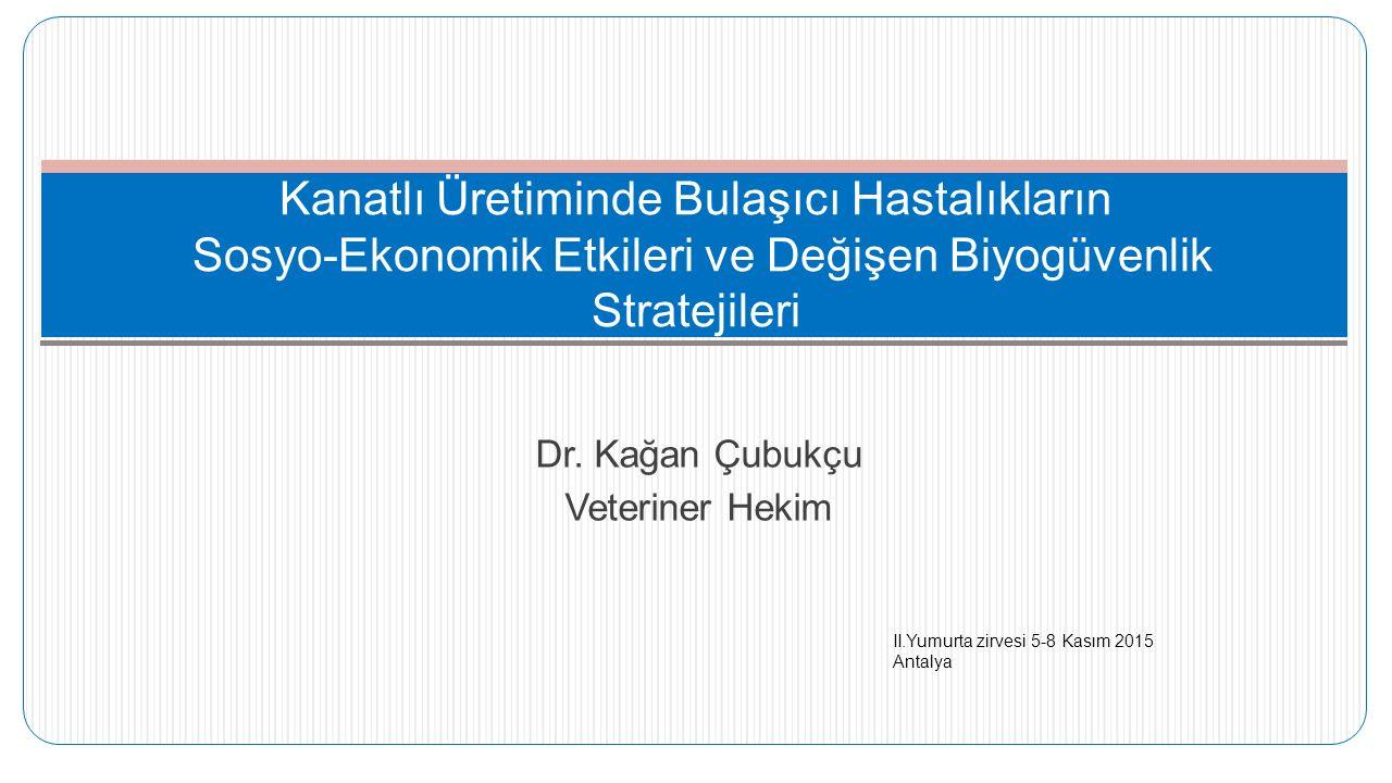 Dr. Kağan Çubukçu Veteriner Hekim Kanatlı Üretiminde Bulaşıcı Hastalıkların Sosyo-Ekonomik Etkileri ve Değişen Biyogüvenlik Stratejileri II.Yumurta zi