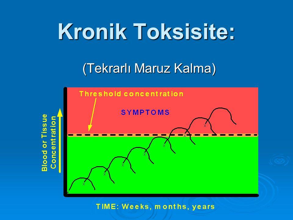 Kronik Toksisite: (Tekrarlı Maruz Kalma)