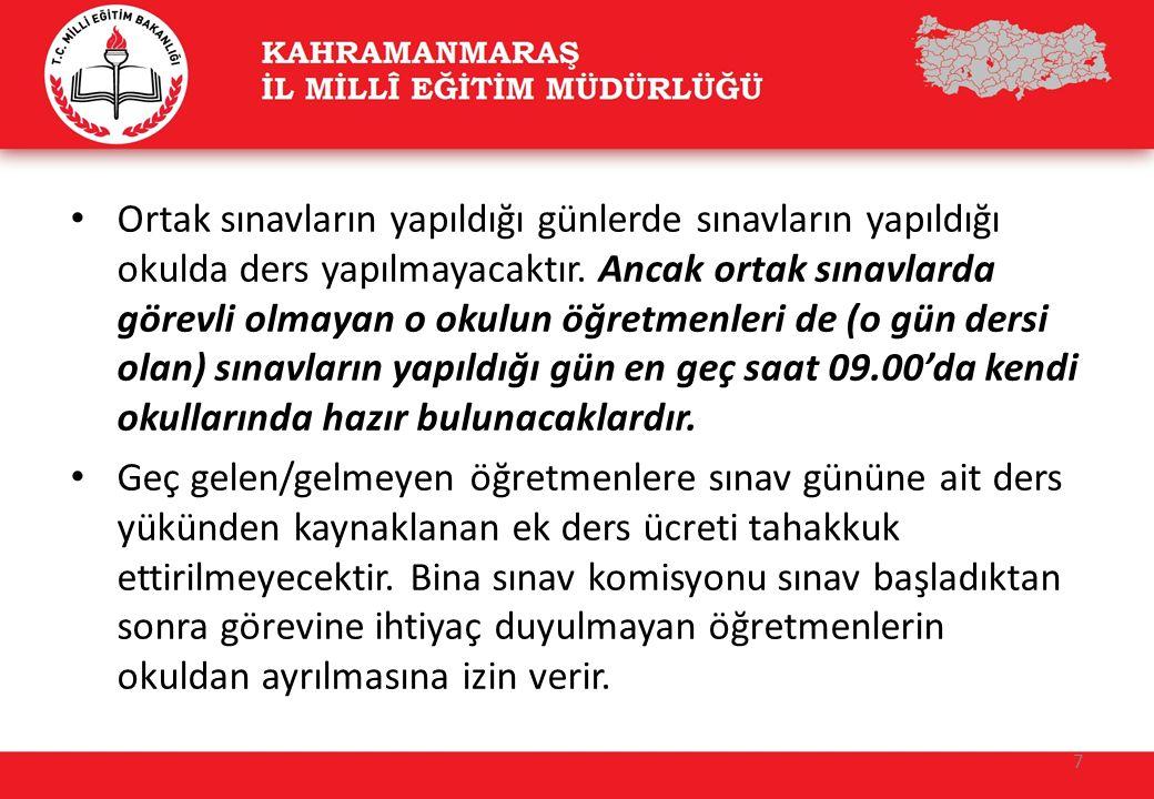 Sınav Poşetinin Doğru açılması için görevlileri uyarınız !!!