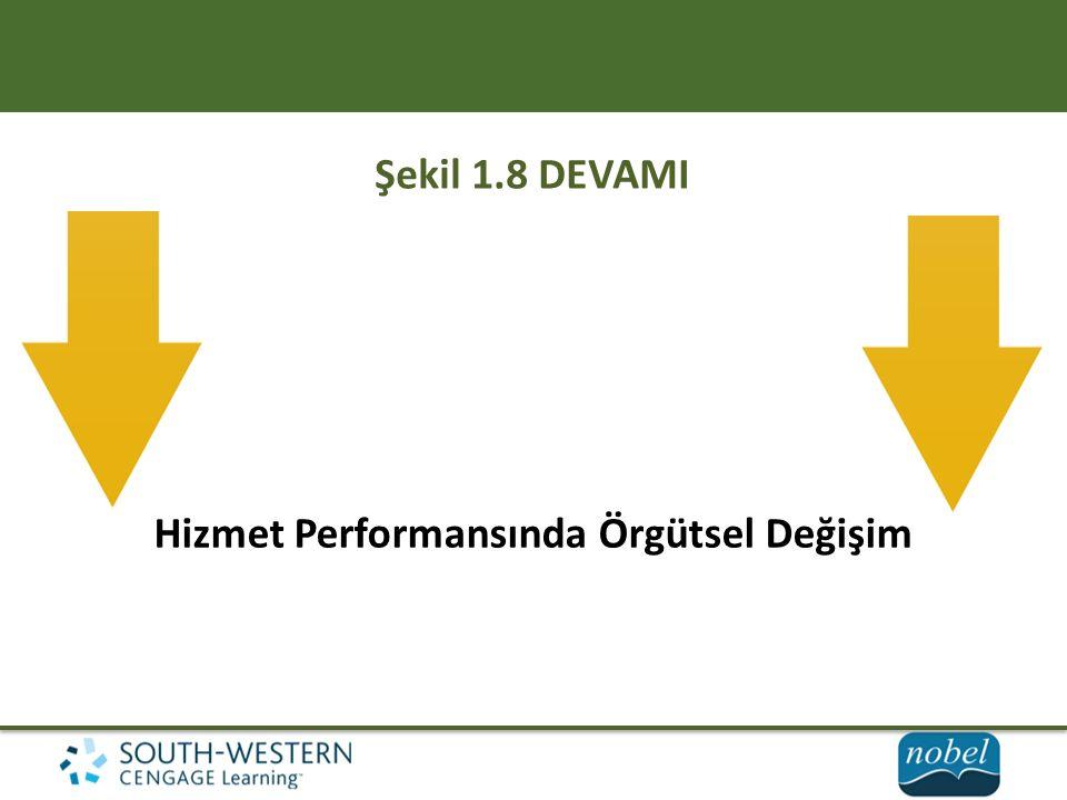 Hizmet Performansında Örgütsel Değişim Şekil 1.8 DEVAMI