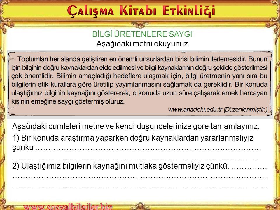 """Kaynakça 1) Bilim ve Teknik, """"Atatürk ve Bilim"""", Sayı 318, TUBİTAK yayınları, Ankara 1994 2) Bilim Çocuk, """" Cumhuriyetin Bilim Öyküsünün Yazarı: Atatü"""