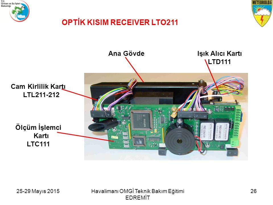 Işık Alıcı Kartı LTD111 OPTİK KISIM RECEIVER LTO211 Cam Kirlilik Kartı LTL211-212 Ölçüm İşlemci Kartı LTC111 Ana Gövde Havalimanı OMGİ Teknik Bakım Eğ