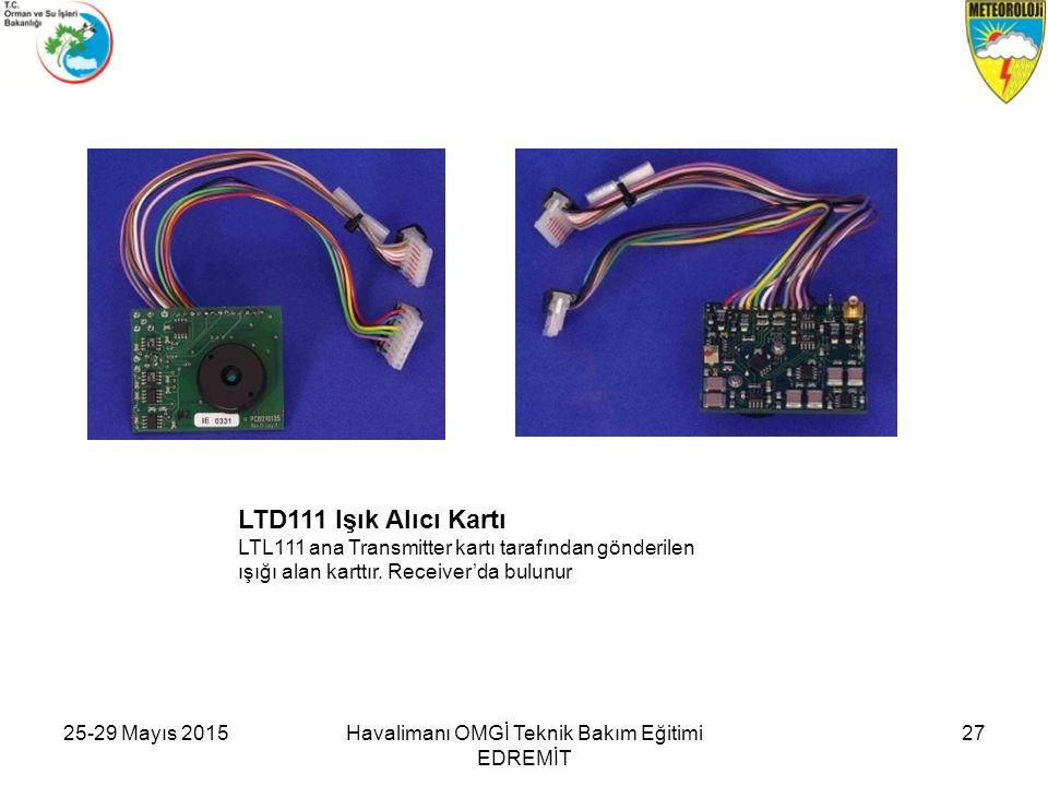LTD111 Işık Alıcı Kartı LTL111 ana Transmitter kartı tarafından gönderilen ışığı alan karttır. Receiver'da bulunur Havalimanı OMGİ Teknik Bakım Eğitim