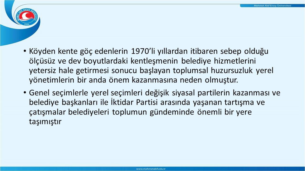 İl özel idarelerinin ortaya çıkışı Osmanlı dönemine dayanmaktadır.
