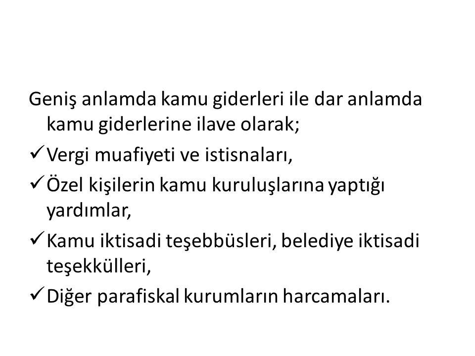 II.Kamu Giderlerinin Artışı 1.Nereden Nereye. Türkiye'nin 1924 yılında bütçesi 64 milyon TL idi.