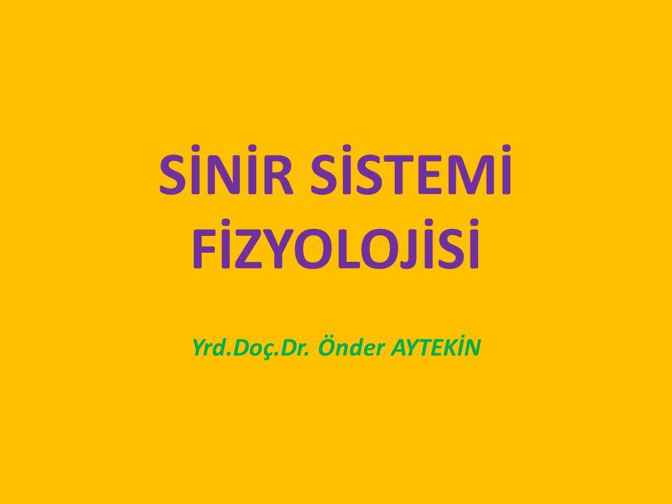 SİNİR SİSTEMİ FİZYOLOJİSİ Yrd.Doç.Dr. Önder AYTEKİN