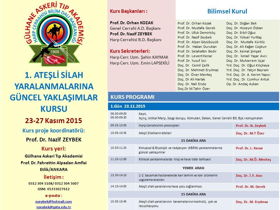 Prof. Dr. Orhan Kozak Prof. Dr. Mustafa Gerek Prof. Dr. Ufuk Demirkılıç Prof. Dr. Nazif Zeybek Prof. Dr. Alper Gözübüyük Prof. Dr. Hakan Durukan Prof.