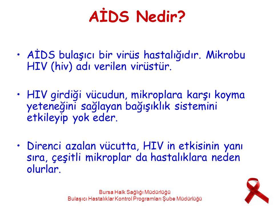 AİDS Nedir? AİDS bulaşıcı bir virüs hastalığıdır. Mikrobu HIV (hiv) adı verilen virüstür. HIV girdiği vücudun, mikroplara karşı koyma yeteneğini sağla