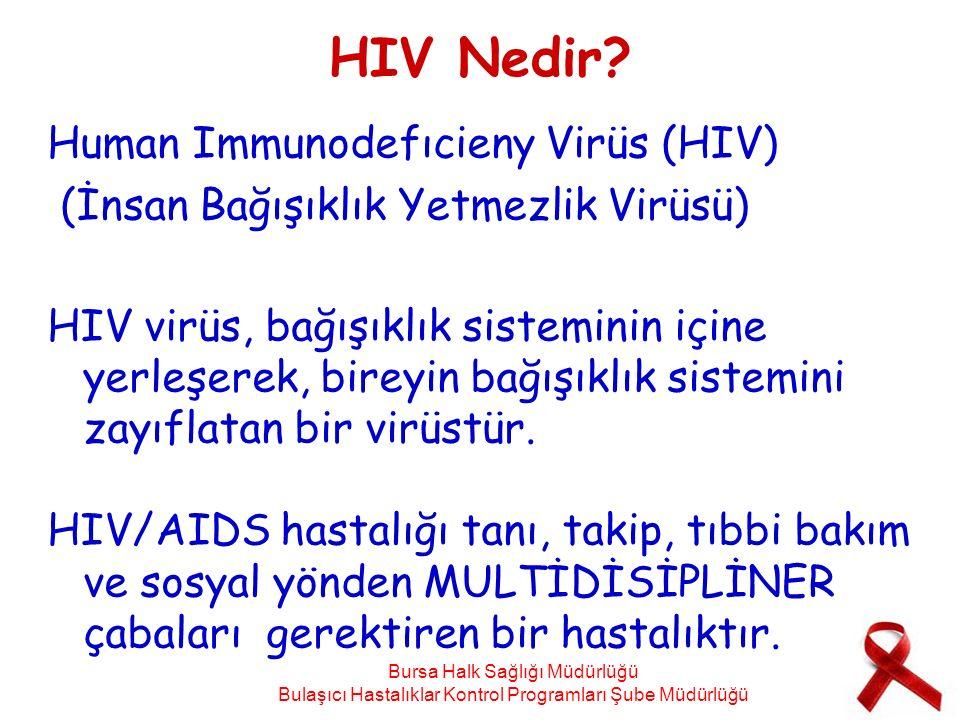 HIV Nedir? Human Immunodefıcieny Virüs (HIV) (İnsan Bağışıklık Yetmezlik Virüsü) HIV virüs, bağışıklık sisteminin içine yerleşerek, bireyin bağışıklık