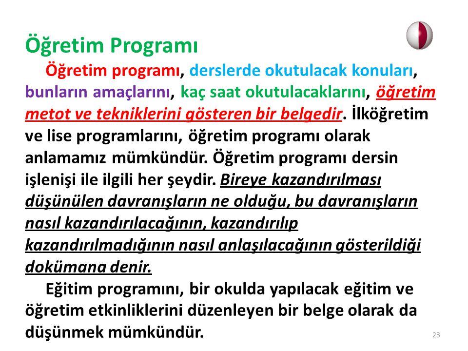Ders Programı Ders programı; bir dersin amacı, muhtevası, öğretme öğrenme süreçleri ve değerlendirmesinden oluşmaktadır.