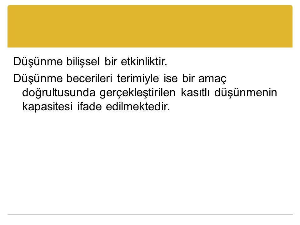 Kaynaklar Akbıyık, C.(2002). Eleştirel Düşünme Eğilimleri ve Akademik Başarı.