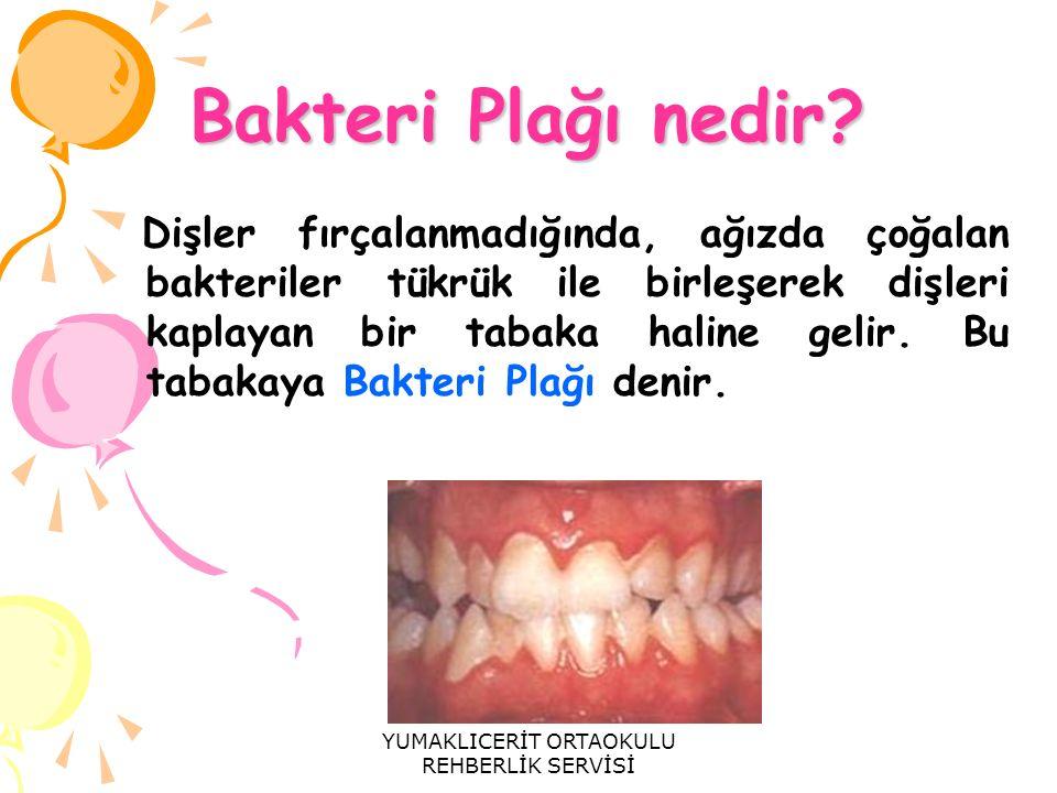 Bakteri Plağı nedir? Dişler fırçalanmadığında, ağızda çoğalan bakteriler tükrük ile birleşerek dişleri kaplayan bir tabaka haline gelir. Bu tabakaya B