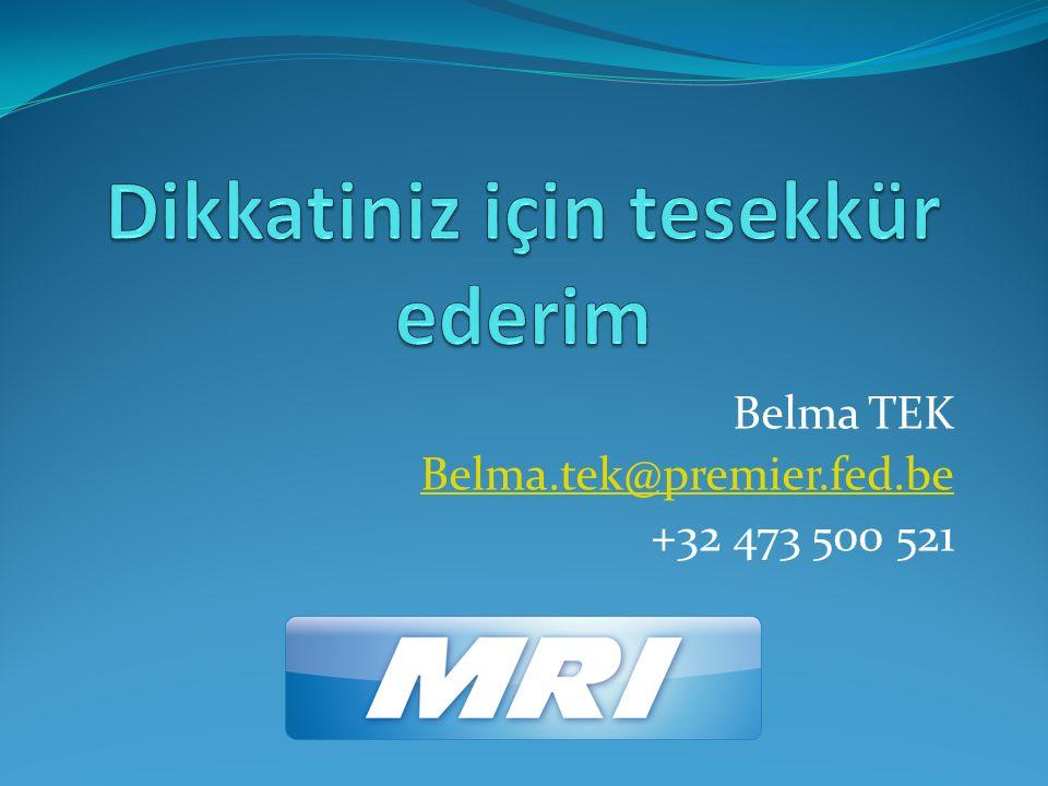 Belma TEK Belma.tek@premier.fed.be +32 473 500 521