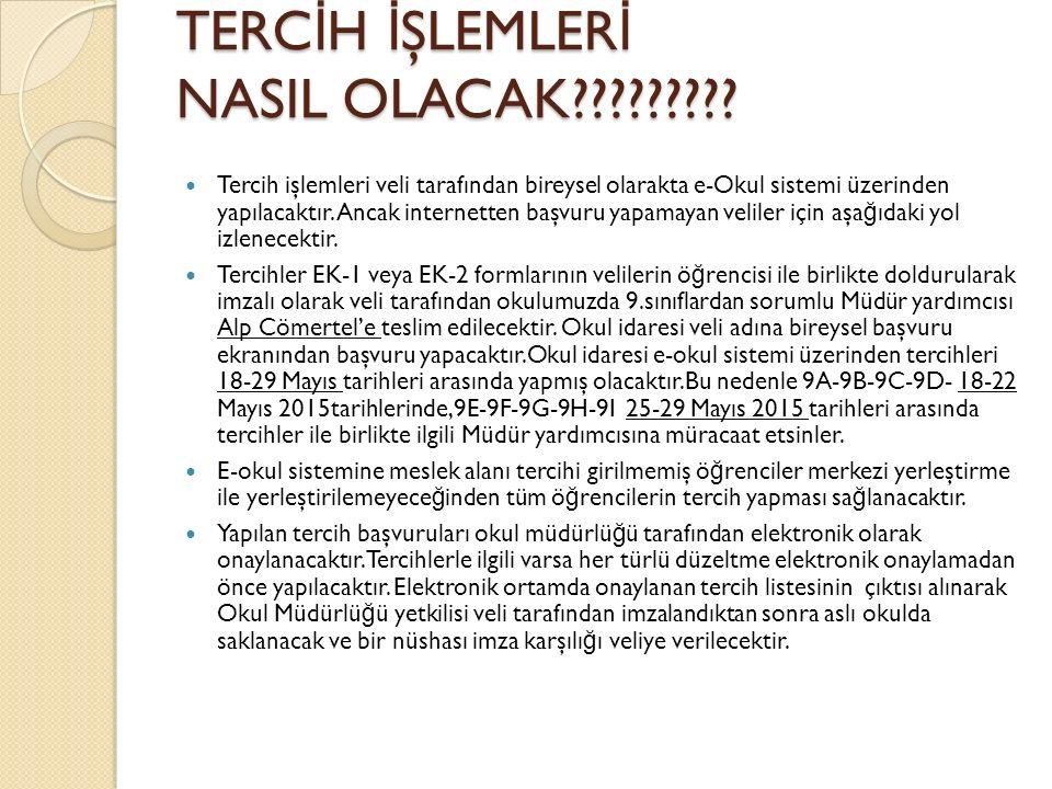 TERC İ H İ ŞLEMLER İ NASIL OLACAK????????.