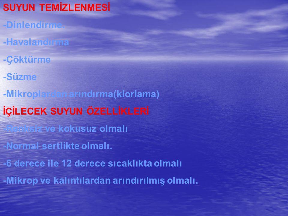 SUYUN TEMİZLENMESİ -Dinlendirme.