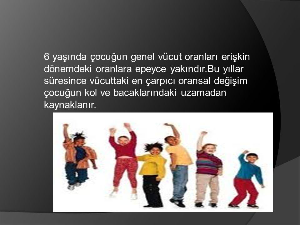 6-12 yaş çocuğunun seçilmiş gelişimsel özellikleri; Entelektüel gelişim; Bu dönem başlarnda okula hazır olduğunu gösterir.