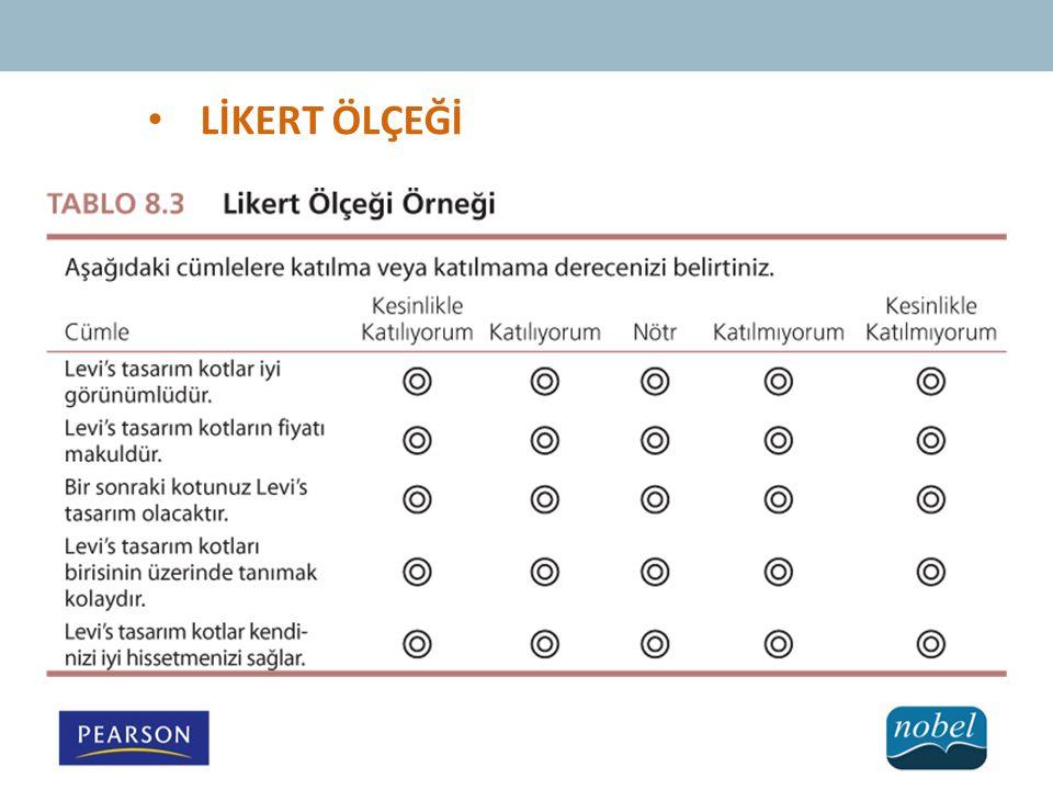 LİKERT ÖLÇEĞİ