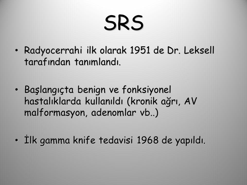 SRS Radyocerrahi ilk olarak 1951 de Dr. Leksell tarafından tanımlandı.