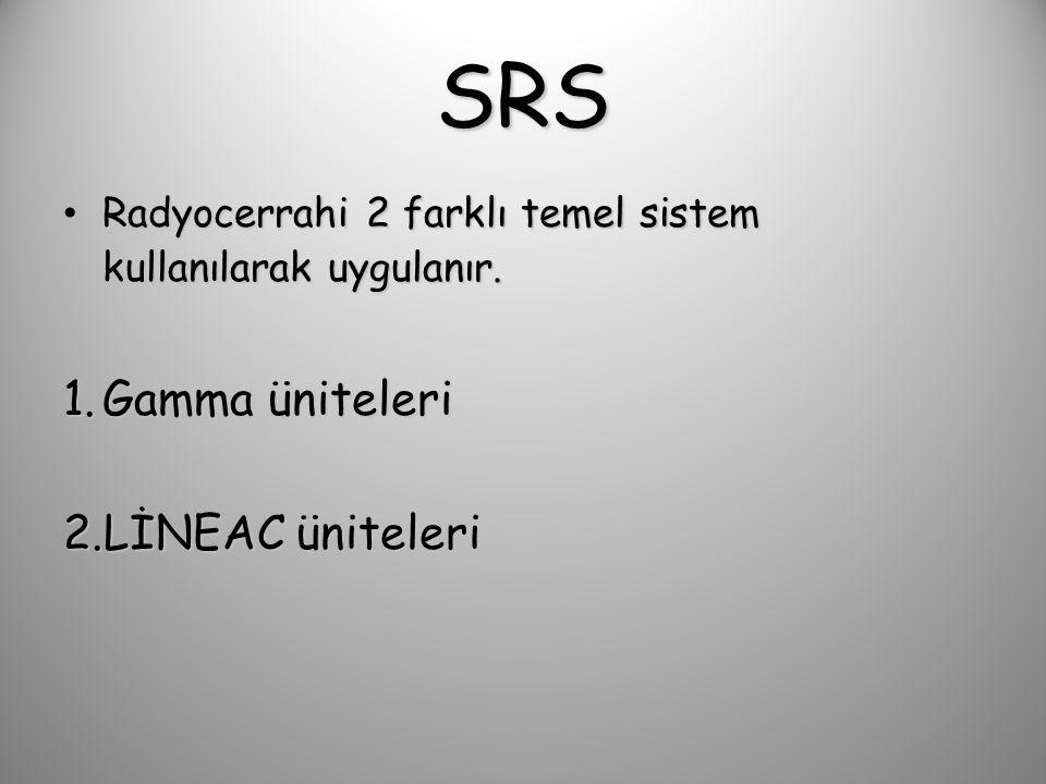 SRS Fiziksel Ekipmanlar – LİNEAC için 4-6 MV – Gamma Knife için 1,25 MV