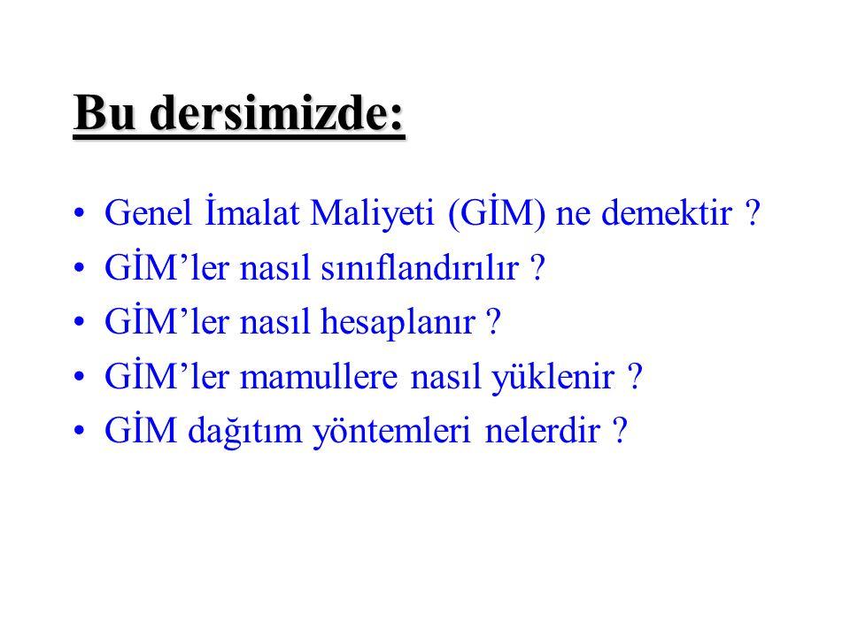 III.Dağıtım: EGM'lerden Mamullere Yüklenmesi GİM Aylık TutarDağ.Ölçüsü1.YGM2.YGM3.YGMA.EGMB.EGM II.TOP 127.000 TL 69348,3457651,66